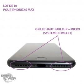 Grille haut-parleur + micro iPhone XS MAX - Grille anti-poussières (lot de 10)