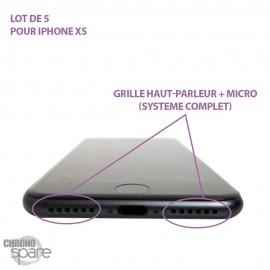 Grille haut-parleur+ micro iPhone XS/ Grille anti poussières (lot de 5)