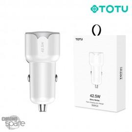 Chargeur voiture 42.5W TYPE-C et USB noir/blanc TOTU (DCCPD-07)