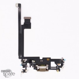 Nappe connecteur de charge iPhone 12 pro max or