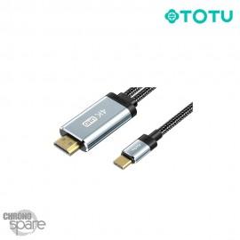 Câble Type-C vers HDMI 5V gris 2M TOTU (BT-011)