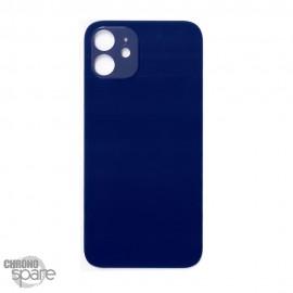Plaque arrière en verre iPhone 12 bleue (pour machine laser)