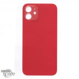 Plaque arrière en verre iPhone 12 rouge (pour machine laser)