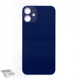Plaque arrière en verre iPhone 12 mini bleue (pour machine laser)