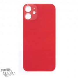 Plaque arrière en verre iPhone 12 mini rouge (pour machine laser)