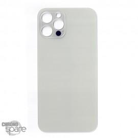 Plaque arrière en verre iPhone 12 pro argent (pour machine laser)