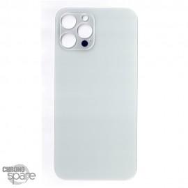 Plaque arrière en verre iPhone 12 pro max argent (pour machine laser)