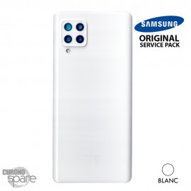 Vitre arrière + vitre caméra blanche Samsung Galaxy A42 5G A426F (officiel)