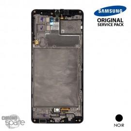 Ecran LCD + Vitre Tactile + châssis noir Samsung Galaxy A42 5G A426F (officiel)