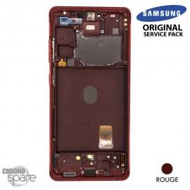 Ecran LCD + Vitre Tactile + châssis Blanc Samsung Galaxy S20 FE G780F (officiel)