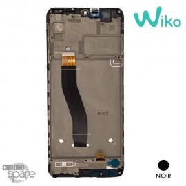 Ecran LCD et Vitre tactile + Chassis noir Wiko View 4 (officiel)