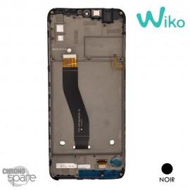 Ecran LCD et Vitre tactile + Chassis noir Wiko View 4 Lite (officiel)