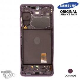 Ecran LCD + Vitre Tactile + châssis lavande Samsung Galaxy S20 FE G780F (officiel)