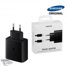 Chargeur secteur Samsung original TYPE-C 45W + Câble Type-C - Noir