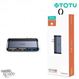 Hub Type-C vers 3 USB TOTU (FGCR-011)