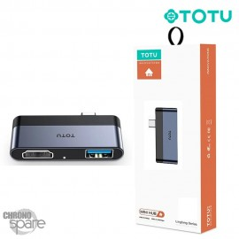 Hub Type-C vers 1 USB + HDMI TOTU (FGCR-010)
