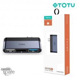 Hub Type-C vers 2 USB + micro SD TOTU (FGCR-012)