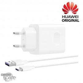 Chargeur secteur + câble 1M Superchargeur 40W TYPE-C Huawei 5V 2 A - Blanc BULK (Officiel)