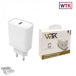 Chargeur secteur 20W Type-C WTK