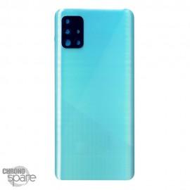 Vitre arrière + lentille caméra Samsung Galaxy A51 A515F - Bleue