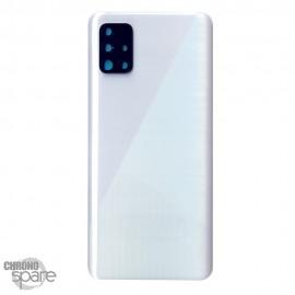 Vitre arrière + lentille caméra Samsung Galaxy A51 A515F - Blanche