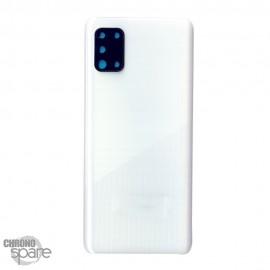 Vitre arrière + lentille caméra Samsung Galaxy A31 A315F - Blanche