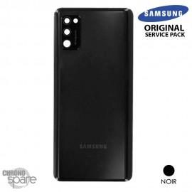 Vitre arrière + vitre caméra Samsung Galaxy A41 (Officiel) - Noire