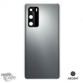Vitre arrière + vitre caméra Huawei P40 - Argent