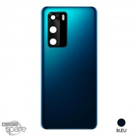 Vitre arrière + vitre caméra Huawei P40 - Bleue