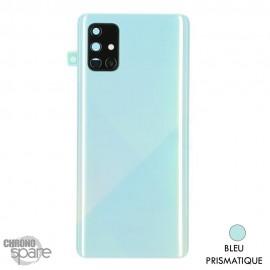 Vitre arrière + vitre caméra Samsung Galaxy A71 - Bleu Prismatique