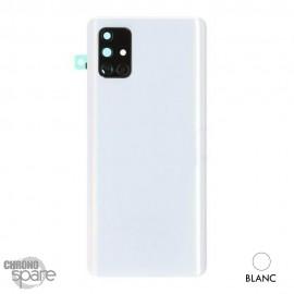 Vitre arrière + vitre caméra Samsung Galaxy A71 - Blanche