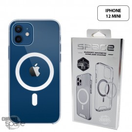 Coque silicone Space Collection Transparente Magnétique iPhone 12 Mini