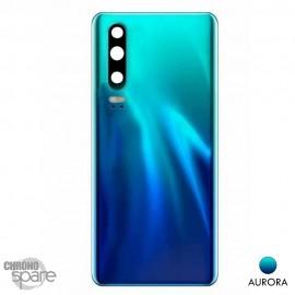 Vitre arrière + vitre caméra Huawei P30 - Aurora