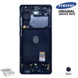 Ecran LCD + Vitre Tactile + châssis Blanc Samsung Galaxy S20 FE 5G G781F (officiel)