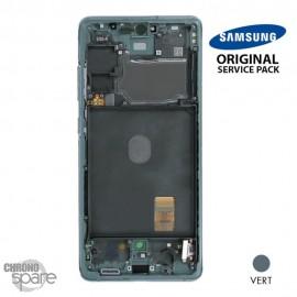 Ecran LCD + Vitre Tactile + châssis Vert Samsung Galaxy S20 FE 5G G781F (officiel)