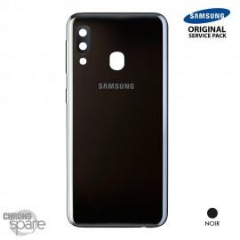 Vitre arrière + vitre caméra Noire Samsung Galaxy A20E A202FN (Officiel)