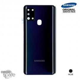 Vitre arrière + vitre caméra Noire Samsung Galaxy A21S A217F (Officiel)