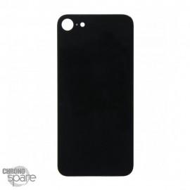 Plaque arrière en verre iPhone 8 noir (pour machine laser) HQEU