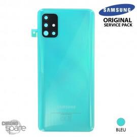 Vitre arrière + vitre caméra Blanc Samsung Galaxy A51 A515F (Officiel)