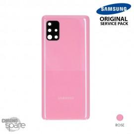Vitre arrière + vitre caméra Noire Samsung Galaxy A51 5G A515F (Officiel)