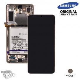 Ecran LCD + Vitre Tactile + châssis Violet Samsung Galaxy S21 Plus G996B (officiel)