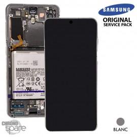 Ecran LCD + Vitre Tactile + châssis Blanc Samsung Galaxy S21 G991B (officiel)