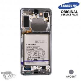 Ecran LCD + Vitre Tactile + châssis Argent Samsung Galaxy S21 Plus G996B (officiel)