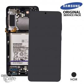 Ecran LCD + Vitre Tactile + châssis Noir Samsung Galaxy S21 Plus G996B (officiel)