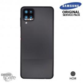 Vitre arrière + vitre caméra Noire Samsung Galaxy A12 (Officiel)