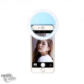 Anneau Led pour Selfie à clipser Bleu