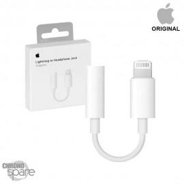 Câble Adaptateur Lightning Apple vers jack 3.5mm Avec boîte - blanc
