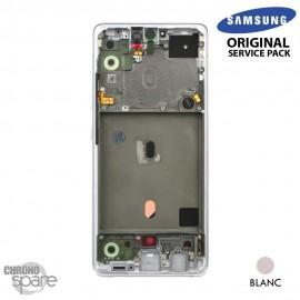 Ecran LCD + Vitre Tactile + châssis Blanc Samsung Galaxy A51 5G A516F (officiel)