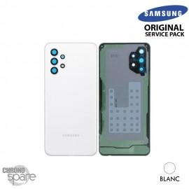 Vitre arrière + vitre caméra Blanche Samsung Galaxy A32 5G (Officiel)