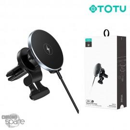 Chargeur induction magnétique avec option voiture Noir TOTU (CACW-50)